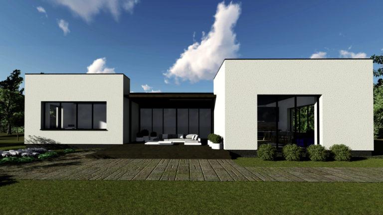 vieno auksto gyvenamas modernus namas 5